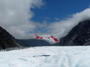 Start helihike Fox Glacier