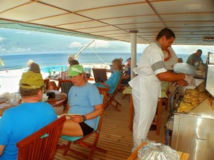 Anahi lunch main deck