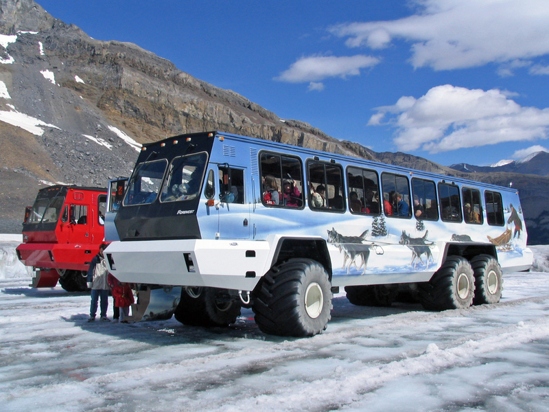 Met monsterstruck naar de Columbia Icefields