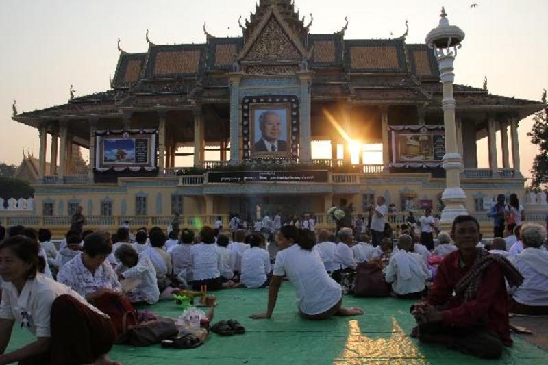 Royal Palace in rouw, Phnom Penh