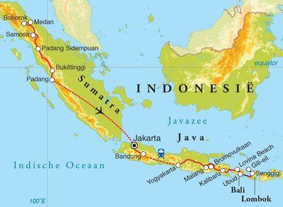 Rondreis sumatra java bali lombok 28 dagen djoser routekaart rondreis sumatra java bali lombok 28 dagen bekijk grotere kaart altavistaventures Gallery