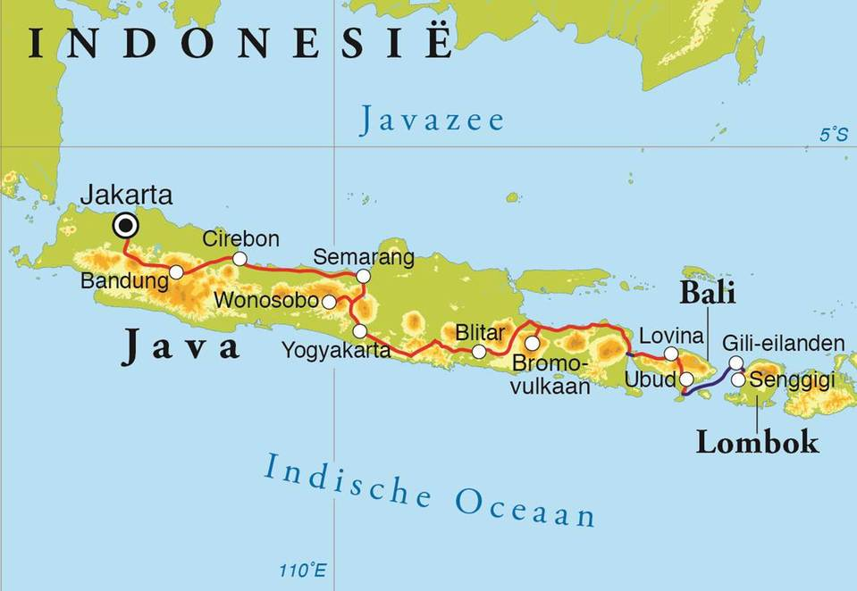 Rondreis java bali lombok 22 dagen djoser routekaart rondreis java bali lombok 22 dagen altavistaventures Gallery