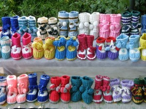 Hand-knitted children's shoes