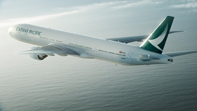 Cathay Pacific vliegtuig