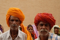 mannen tulband Rajasthan India Djoser