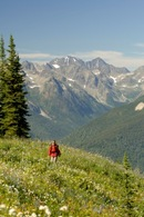 trekking nature british columbia canada