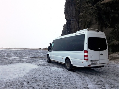 Bus IJsland winter