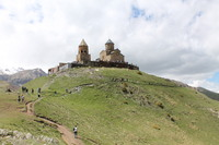 View on Gergeti trinity church Kazbegi