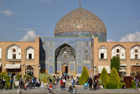 Busy square in Isfahan Lotfolla Mosque, Iran