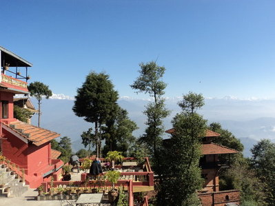 Hotel View Point uitzicht Nagarkot Nepal