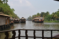 Rijstboot backwaters Kerala India Djoser
