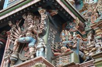 close-up Shree Meenakshi-tempel Madurai India Djoser