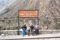 Bord begin Inka Trail Peru