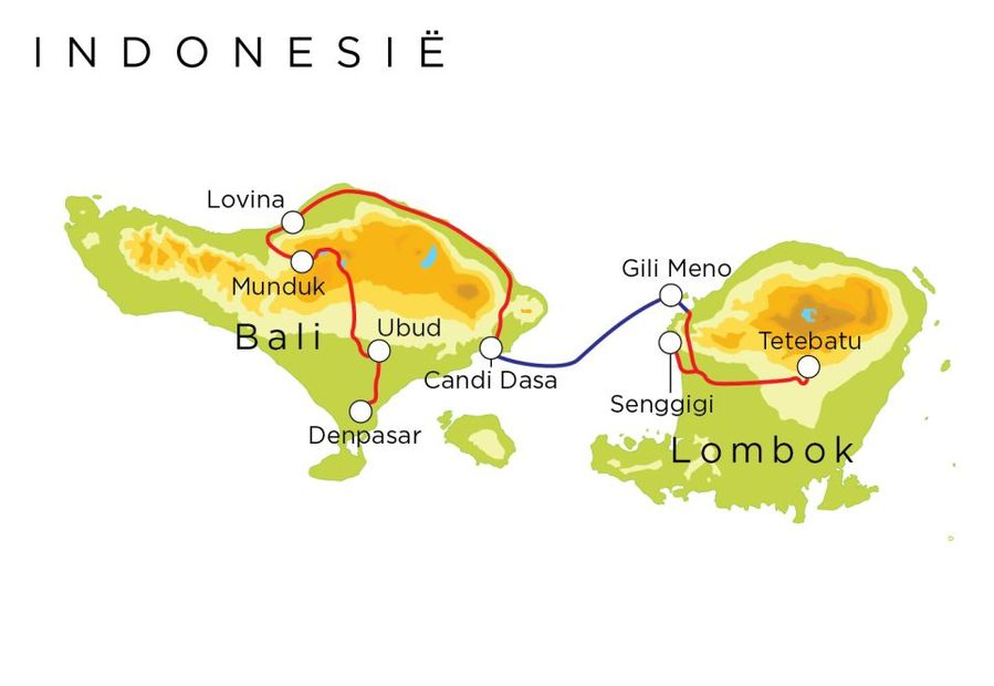 Routekaart Indonesië, 18 dagen