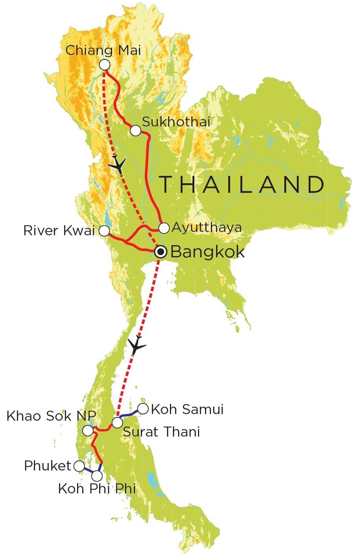 Vakantie Thailand Noord Zuid 21 Dagen Djoser Family