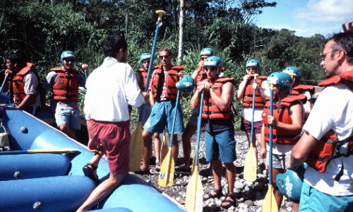Santo domingo rafting instructie