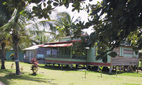 Huis op de Corn Islands