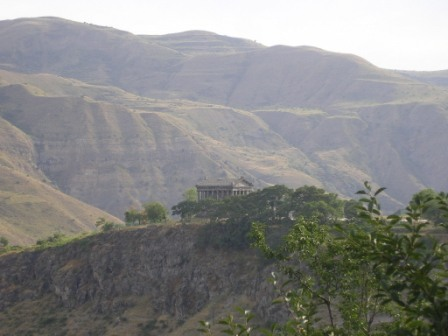 Panoramic view of Garni temple