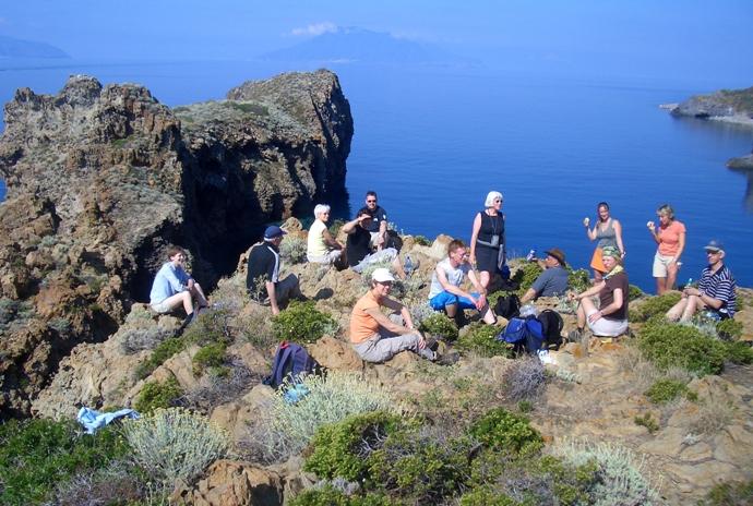 Während der Wanderung auf Lipari, Sizilien, Djoser Reisen
