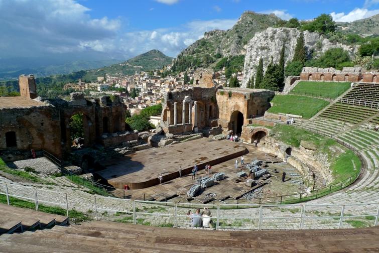 Teatro Greco, Castelmola, Sizilien, Djoser Reisen