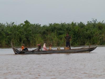 Boot auf dem Mekong, Vietnam Fahrradreise