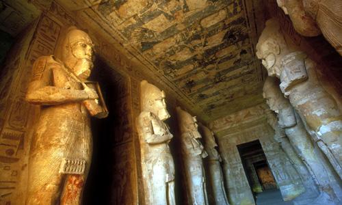 Tempelanlage in Assuan, Ägypten, Djoser Reisen